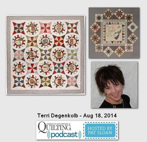 Pat Sloan American Patchwork and Quilting radio Terri Degenkolb Aug 2014 guest